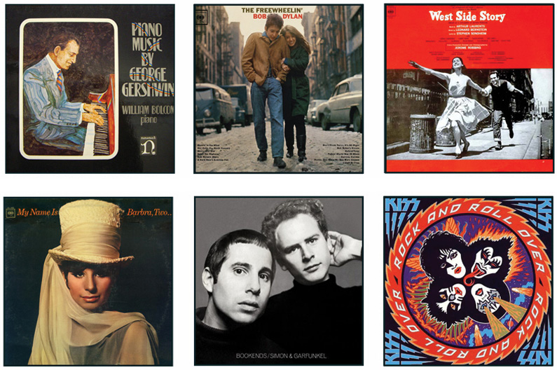 """""""The Amazing Legacy of Jewish Singers, Songwriters & Musicians… 50 Original Album Covers"""""""