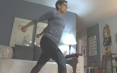 She's sharing her exercise moves virtually with Silver Sneakers